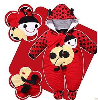 Gaorui Baby Newborn Warm Jumpsuit Outfit Hoody Coat Winter Infant Rompers Bodysuit