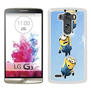 Hot Sale LG G3 Case, Minion HD White LG G3 Cover Unique And High Quality Designed Phone Case