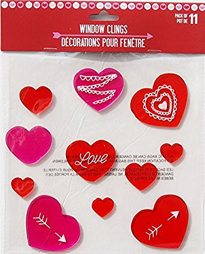 Tonak Valentine Window Clings for Glass Windows Decorations Valentines Day Window Clings Double Sided Valentines Window Stickers Vinyl Large Valentines Day Home Decals