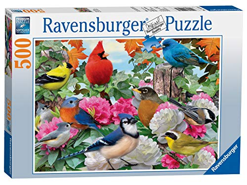 Ravensburger Garden Birds 500 Piece Jigsaw Puzzle for Adults – Every Piece is Unique, Softclick Technology Means Pieces Fit Together Perfectly (Five Piece Hundred)