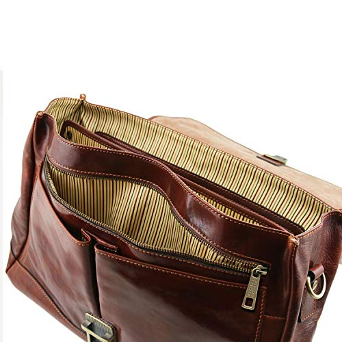 MantovaCartella Leather Moro Smart Di Tuscany Pelle Tl141450marroneTesta Tl Pattella Multiscomparto In Con SGLqMVzpU
