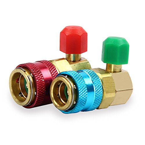 TargetEvo 1/4'' Adjustable AC R134A Quick Couplers Adapters High Low Manifold Connector For HVAC Auto Air Conditioning by TargetEvo (Image #5)