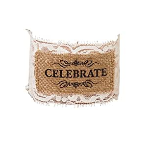 Lillian Rose Burlap Glass Celebrate Wraps, Clear, Set of 6