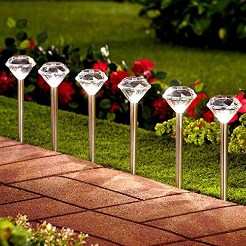 Moonsofter Solar Stake Lights Outdoor; Perfect for Pathway, Patio, Lawn, Yard, Garden, Flower Pot, Sidewalk, Stainless Steel, Waterproof (Multi Color, 4 Pack)