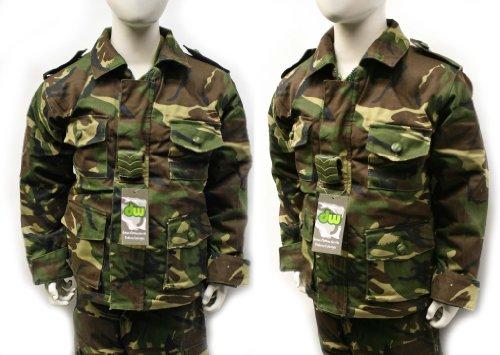 Dallaswear Childrens kids camouflage zip hoodie camo