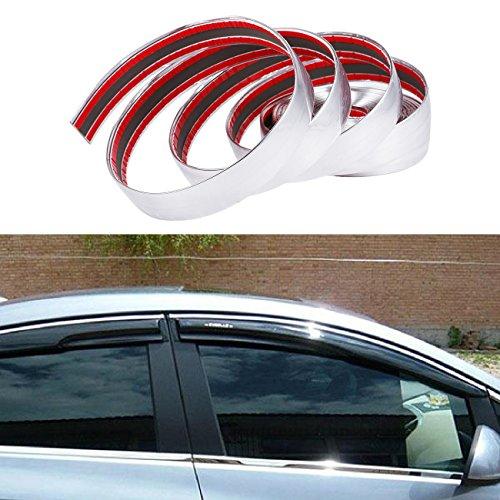 "ALAVENTE Car Chrome Moulding Trim Strip For Window Bumper Grille Silver Line (5 Meter X 25mm, 16.4ft x 1"")"