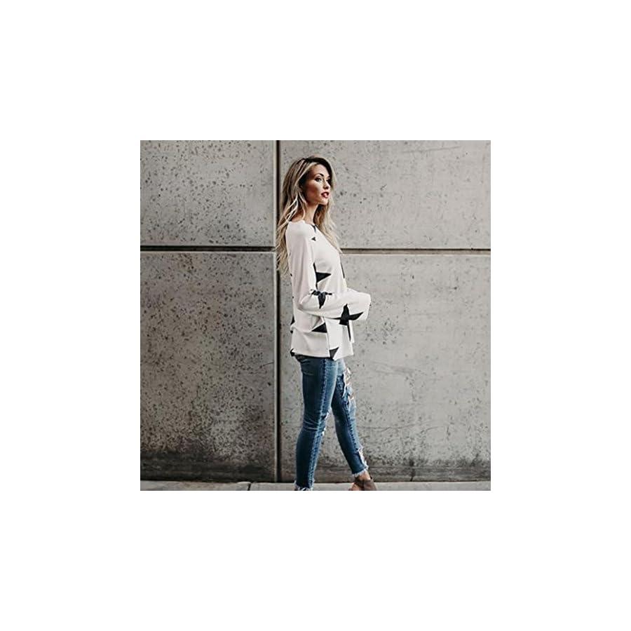 Vovotrade Adorable Women Girl Strapless Star Sweatshirt Long Sleeve Crop Jumper Pullover Tops