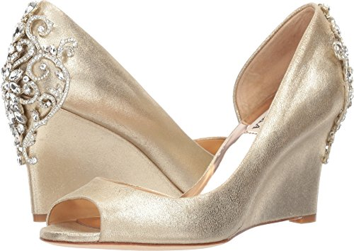Badgley Mischka Women's Meagan II Pump, Platino_929, 8.5 M US by Badgley Mischka