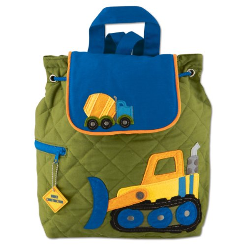 Stephen Joseph Boys Quilted Construction Backpack with Coloring Activity Pad ()