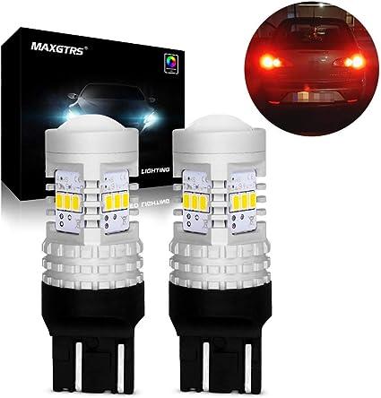 MAXGTRS extremadamente brillante 7443 W21 / 5W T20 bombillas LED ...