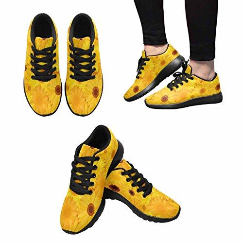 Scarpe Da Corsa Trail Running Da Donna Jogging Leggero Sportivo Da Passeggio Sneaker Atletico Giallo Fiori Multi 1