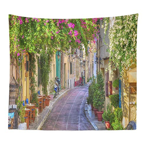 Ansenesna Home Textile Decor Tapestry with 3D Painting Flower Wall Art Hippie Wall Hanging Bohemia Soft Cool