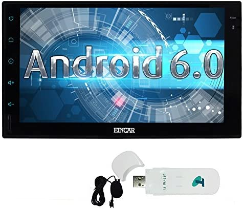 Free External Microphone Quad-core 1.6G GPS Car Stereo in Dash Double din 7inch Full Tablet Pannel Multi-Touchscreen Head Unit Android 6.0 OS Autoradio Support Bluetooth GPS Sat Navi WiFi OBD