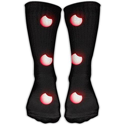 Red Eclipse Melbourne Beach Outdoor Running Long Socks Novelty High Athletic Sock - Melbourne Stores Online
