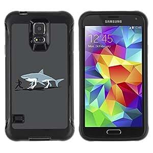 Hybrid Anti-Shock Defend Case for Samsung Galaxy S5 / Shark