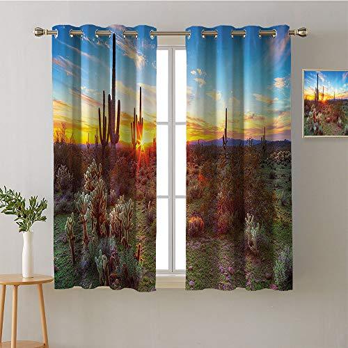"""Jinguizi Curtain Kitchen Window Grommets Fashion Darkening Curtains Indoor Darkening Curtains Family Darkening Curtains Privacy Assured Window Treatment(2 Pieces, 27.5"""" Wide Each Panel)"""
