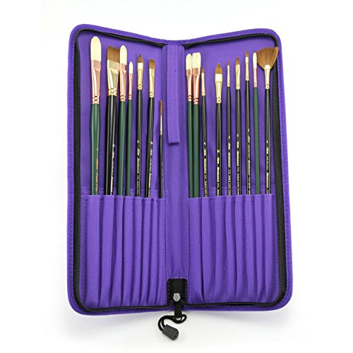Silver Brush JL-7117 Johnnie Liliedahl Deluxe Portraiture Brush Set, 17 Per Pack by Silver Brush Limited