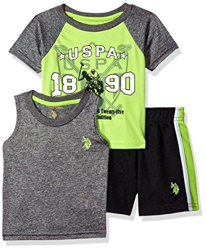 U.S. Polo Assn. Boys T-Shirt, Tank and Mesh Short Set