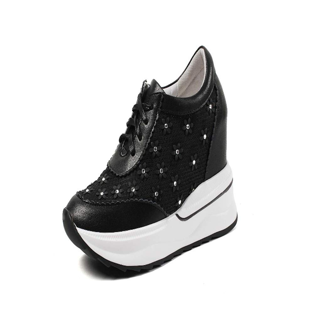 d58b9b7093840 Amazon.com: DETAIWIN Women Platform Wedge Sneakers Casual Sneaker ...