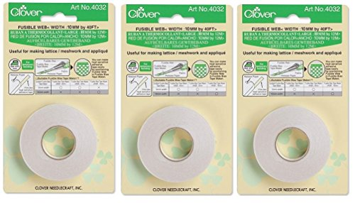 Bulk Buy: Clover Fusible Bias Tape Maker Fusible Web 40 Feet 4032C (3-Pack)