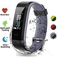 Fitness Tracker,Lacyie Fitness Braccialetto Schermo a Colori Watch Bracciale Cardiofrequenzimetro da Polso Smartwatch Pedometro Impermeabile IP68 Donna Uomo Bambini HR Sport per Android iOS Smartphone