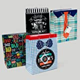 GIFT BAG FATHERS DAY 4AST DESIGN LARGE 10W X 12L X 5G...