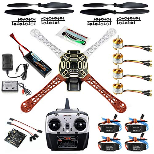 QWinOut DIY 2.4G 8CH KK V2.3 F450 Frame RC Quadcopter 4-Axle UFO Unassembly Kit RTF/ARF Basic Drone