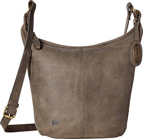Born Womens Plymouth Distressed Bucket Hobo Elephant One (Distressed Hobo Bag)