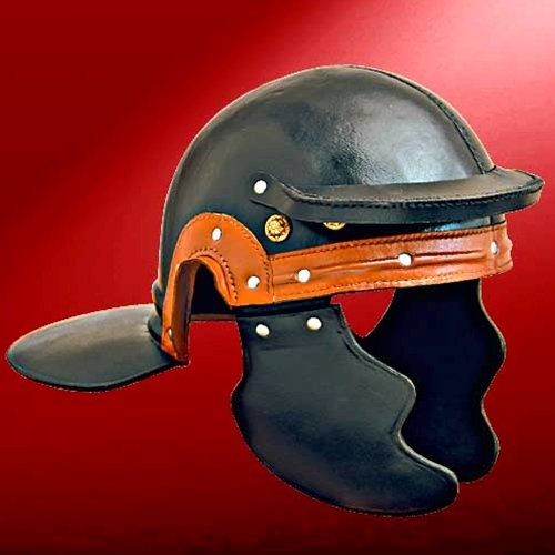 Museum Replicas Roman Trooper Leather Helm ()