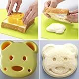 MMRM Bear Shape Sandwich Cutter Cookie Pastry Pancake Cutter Toast Maker Bread Mold