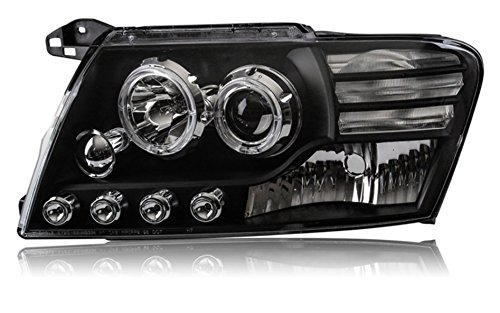 GOWE Car Styling For Mitsubishi Pajero V73 headlights For V73 LED head lamp Angel eye led DRL front light Bi-X Color Temperature:4300K;Wattage:35K 1