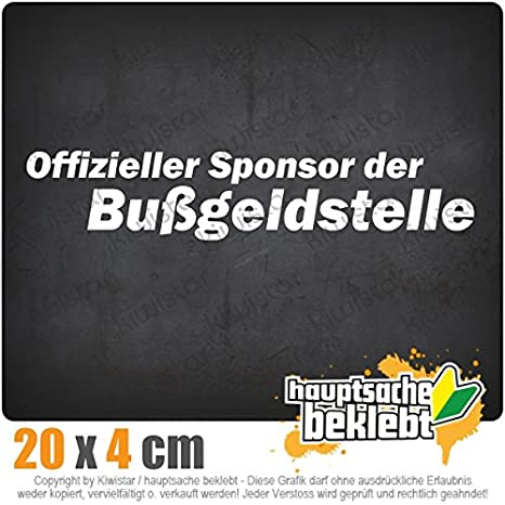 Sponsor Der Bußgeldstelle 20 X 4 Cm In 15 Farben Neon Chrom Sticker Aufkleber