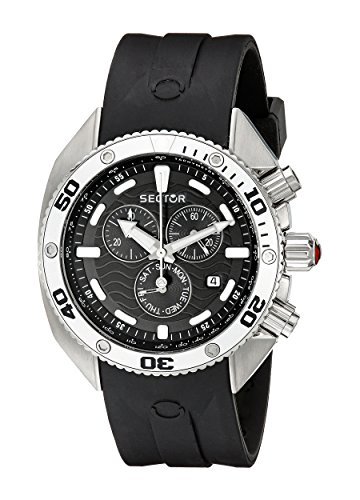 Sector Men's R3271670125 Ocean Master Analog Display Quartz Black Watch