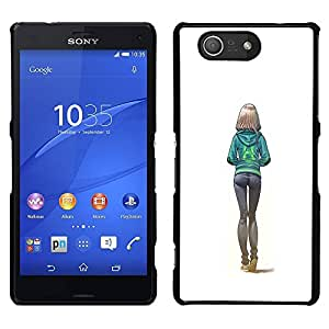 [Neutron-Star] Snap-on Series Teléfono Carcasa Funda Case Caso para Sony Xperia Z4v / Sony Xperia Z4 / E6508 [Sexy Butt Girl White College Woman]