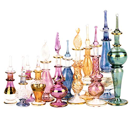 c5dfb4373691 [해외구매대행 $21.90] NileCart Egyptian Perfume Bottles Wholesale Mix Collection  Set of 12 Hand Blown Decorative Pyrex Glass 2-5 in with ...