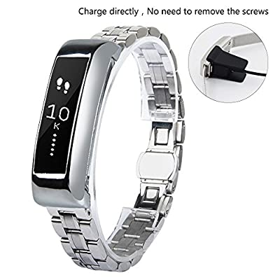 VIGOSS Replacement Metal Band For Fitbit Alta Stainless Steel Strap