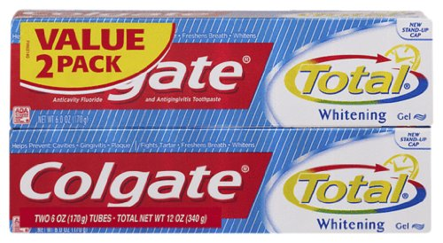 Colgate Total Whitening Gel Dentifrice Twin Pack, 12 onces