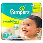 Pampers Swaddlers Diapers, Size 4, 23 Count