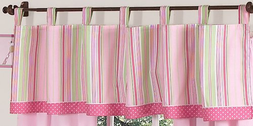 Sweet Jojo Designs Pink and Green Jungle Friends Window Valance