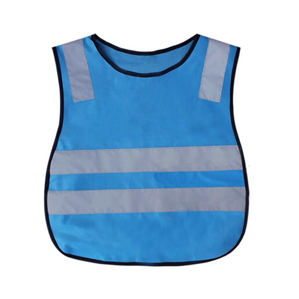 GOGO Kid Reflective Running Vest/Safety Vests With Elastic Waistband, Preschool Uniforms-Blue-CHILD