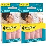 2x OHROPAX Soft Schaumstoff-Ohrstöpsel (2x10Stk.)