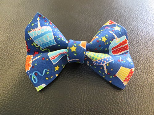 Dog Bow Tie in Blue Happy Birthday Cake Cupcake - Cupcake Costumes Homemade