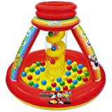 Mickey Mouse Club House Color Adventure Ball Pit, 1 Inflatable & 50 Sof-Flex Balls, Blue/Red/Yellow, 43