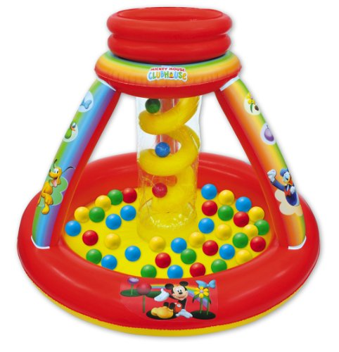 Adventure Ball (Mickey Mouse Club House Color Adventure Ball Pit, 1 Inflatable & 50 Sof-Flex Balls, Blue/Red/Yellow, 43