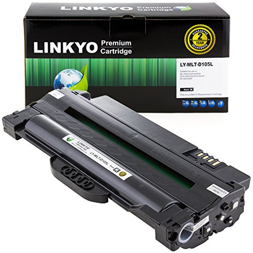 (LINKYO Compatible Toner Cartridge Replacement for Samsung MLT-D105L (Black) )