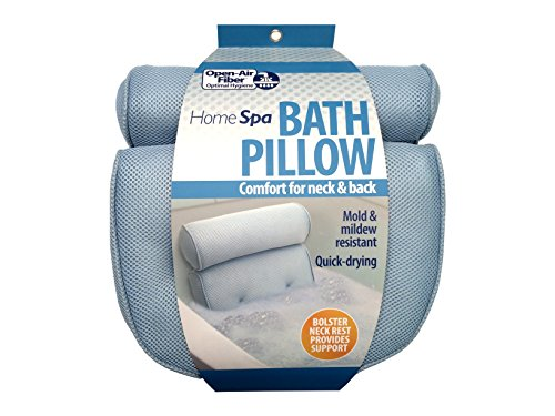 Soft Bath Spa oreiller confort & retour Open Air fibre oreiller cervical air et l'humidité traverse la fibre en plein air offre une détente saine dans la baignoire sans l'odeur des oreillers en mousse
