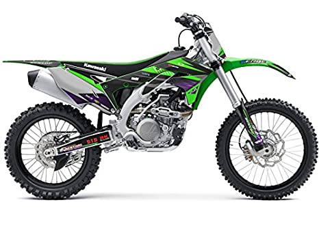 2002-2009 KLX 110 Compatible with Kawasaki Surge Green CUSTOM Senge Graphics Kit