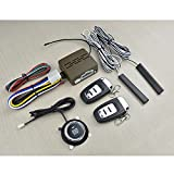 Ocamo 12V Universal 8Pcs Car Alarm Start Security System PKE Induction Anti-theft Car Alarm Keyless Entry Push Button Remote Kit