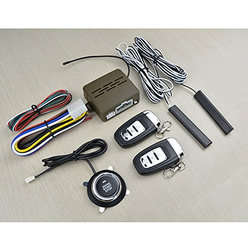 Leoie 12V Universal Car Alarm & Remote Start Security System PKE Induction Anti-Theft Keyless Entry Push Button Remote Kit (8Pcs)
