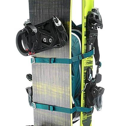 Wedze - Mochila para esquí y snowboard, con correas para esquís o tabla de snowboard - azul: Amazon.es: Deportes y aire libre